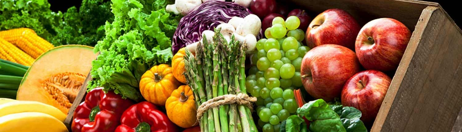 vibrant fruits and fresh vegetables